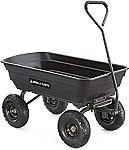 Gorilla Carts GOR4PS Poly Garden Dump Cart w/ Steel Frame $70