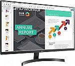 "LG 32QN600-B 32"" QHD (2560 x 1440) IPS Monitor with HDR 10, AMD FreeSync $249.99"