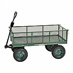 """Muscle Rack 5 cu. ft. 24"""" Mesh Wire Utility Cart with Removable Sides $62.62"""