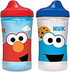2-Pack 10-oz NUK Sesame Street Hard Spout Cup $4