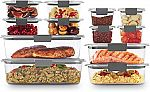 Rubbermaid Brilliance Storage 24-Piece Plastic Food Container w/Lids $28