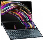 "ASUS ZenBook Duo UX481 14"" FHD NanoEdge Bezel Touch Laptop (i7-10510U 8GB 512GB) $899.99"