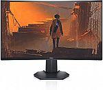 "Dell Gaming S2721HGF 27"" Curved FHD 144Hz 1080p VA Ultra-Thin Bezel Monitor, Nvidia G-Sync and AMD FreeSync HDMI $199.98"