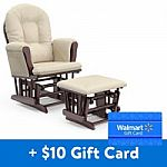 Storkcraft Bowback Glider and Ottoman + $10 Walmart Gift Card $140
