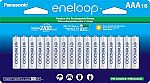 16-pack Panasonic BK-4MCCA16FA eneloop AAA 2100 Cycle Ni-MH Pre-Charged Rechargeable Batteries $29.80