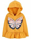 Carters - Butterfly Hooded Jersey Tee $9  & More