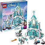 LEGO Disney Princess Elsa's Magical Ice Palace 43172 Toy Castle Building Kit $62.97