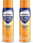 2-Count Microban 24 Hour Disinfectant Sanitizing Spray $11.98