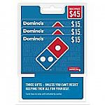 3 x $15 Domino's Pizza Gift Card $35.99