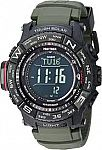 Casio Men's PRO TREK Stainless Steel Quartz Watch with Resin Strap, Black, 20.2 (Model: PRW-3510Y-8CR) $120