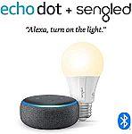 Echo Dot (3rd Gen)  + Sengled Bluetooth bulb $18.99