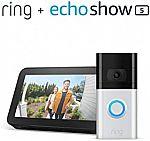 Ring Video Doorbell 3 + Echo Show 5 $150 & More