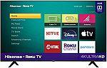 """55"""" Hisense Roku 4K UHD Smart TV $200"""