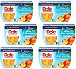 24-Cup Dole Cling Diced Peaches Fruit Bowls (No Sugar Added) $3.25
