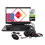 Omen by HP 15 FHD Gaming Laptop (i7-10750H, 8GB, 256GB SSD + 1TB), Mouse and Headset Bundle $899