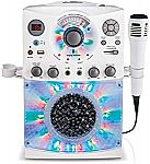 Singing Machine SML385UW Bluetooth Karaoke System with LED Disco Lights $49.97