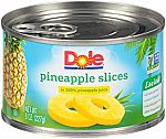 12-Pk 8-oz Dole Canned Pineapple Slices in 100% Fruit Juice $7.40