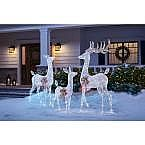 6.5 ft. Festive Pine Pre-Lit Artificial Christmas Tree $40, 3pc Deer Family $79 and more
