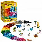 LEGO Classic Bricks & Animals 11011 Animal Figures Set (1500 Pieces) $30 & More
