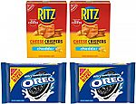2-Pk OREO Chocolate Sandwich Cookies + 2-Pk RITZ Cheddar Cheese Crispers Chips $7.55