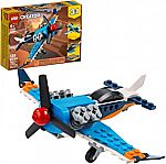 Lego 128-Pc. 3in1 Propeller Plane Flying Toy Building Kit (31099) $8.36 and more