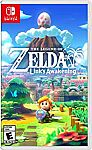 Legend of Zelda Link's Awakening [Nintendo Switch] $39.99, Super Mario Maker 2 $39.99 and more