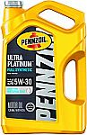 Pennzoil Ultra Platinum Full Synthetic 5qt Motor Oil (5W-30, 5W-20, 0W-20)) $20.97