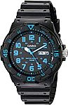 Casio Unisex MRW200H-2BV Neo-Display Black Watch with Resin Band $5