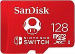SanDisk 128GB microSDXC for Nintendo-Switch $20