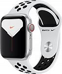 Apple Watch Nike Series 5 (GPS + Cellular) 40mm Silver Aluminum Case $249.99