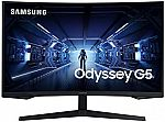 """Samsung 32"""" QHD G5 Odyssey Gaming 144Hz, 1ms Monitor with 1000R Curved Screen  $290 & More"""