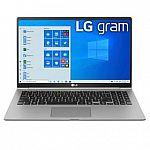 "LG gram 15.6"" Ultra-Lightweight Laptop (i5-1035G7 8GB/256GB) $749"