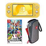 Nintendo Switch Lite Console & Super Smash Bros. Ultimate Game Bundle $270 + Get $75 Kohls Cash