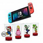 Nintendo Switch with Mario Glassware Bundle $300