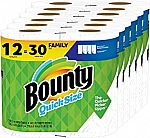 12 Family Rolls Bounty Quick-Size Paper Towels $23