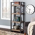 Walker Edison 4-Shelf Bookcase $62.44