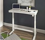 "Tresanti 47"" Adjustable Height Desk with USB Inputs, Wireless Charging Station $279"