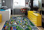 Grey Road Traffic Design 3' x 5' Non-Slip Kids Area Rug by Ottomanson $21.71 and more