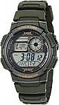 Casio Men's AE1000W-3AV Quartz Resin Watch (Green) $9.48