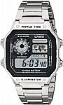 Casio Men's AE1200WHD-1A Stainless Steel Digital Watch $15