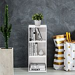 Furinno 3-Tier Open Shelf Bookcase (White) $21.50