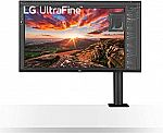 "(Start 9/23) LG 32"" Class Ultrafine UHD IPS Monitor with ErgoStand $499.99"