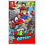 Nintendo Switch Games: Super Mario Odyssey $29.99