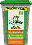 16oz Greenies Feline Smartbites Hairball Control Cat Treats (Chicken) $3.19