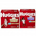 Huggies Plus Diapers Sizes 1 - 2 $30.99, Size 3-6 $36.99
