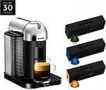Nespresso Vertuo Coffee and Espresso Maker by Breville + 30 Capsules Included $130 & More