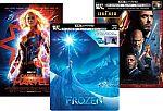 Disney Steelbook 4K Blu-ray Movies: Frozen, Captain Marvel, Iron Man $10