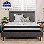 "Flash Furniture Capri Comfortable Sleep 12"" Foam and Pocket Spring Mattress King $118, Queen $161"