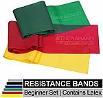 TheraBand Resistance Band Set (Beginner & Advanced) $8.38 & More
