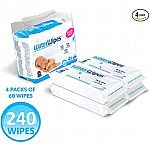 240-count WaterWipes Unscented Baby Wipes, Sensitive and Newborn Skin $9.85